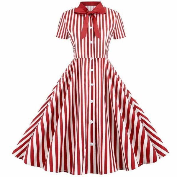 Robe année 50 cocktail rouge