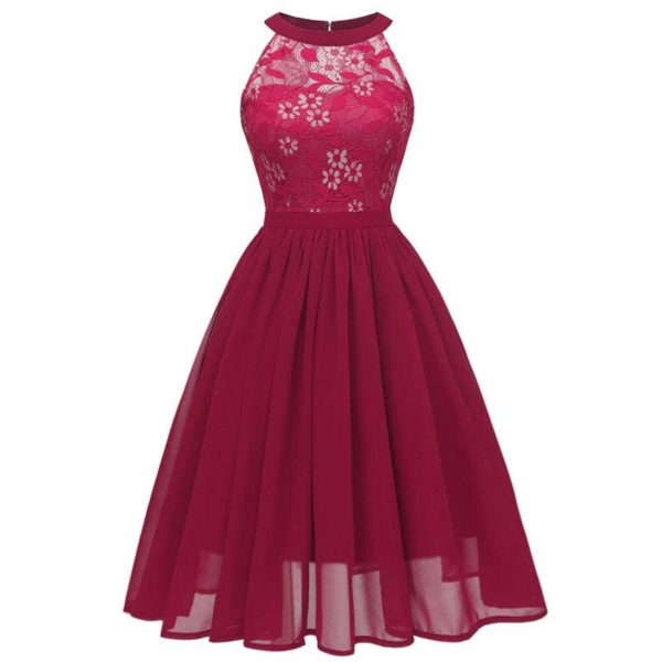 robe année 60 chic rouge