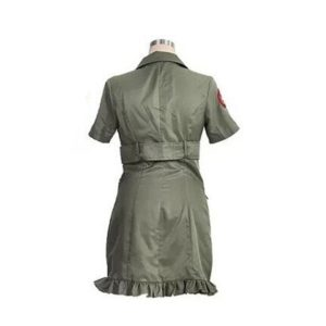 robe pin up militaire vu de dos
