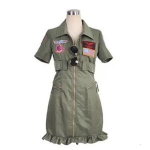 robe pin up militaire kaki